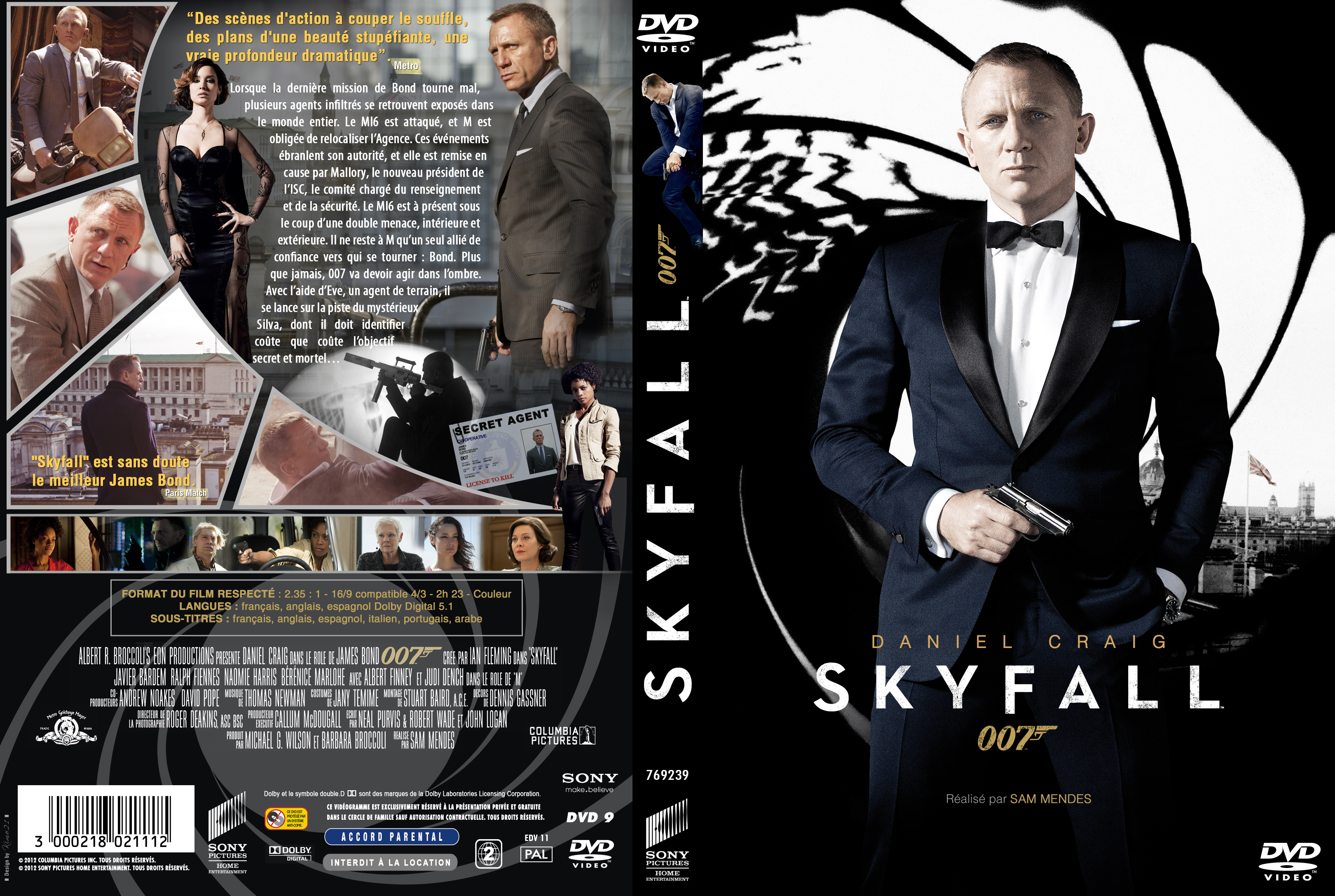 Jaquette DVD Skyfall custom