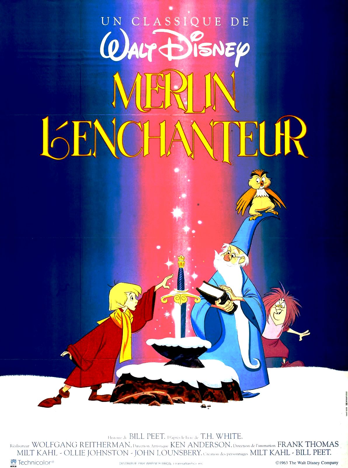 Merlin L Enchanteur De Wolfgang Reitherman Cin 233 Ma Passion