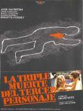 Affiche de La triple muerte del tercer personaje