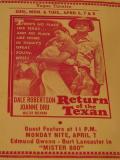 Affiche de Return of the Texan